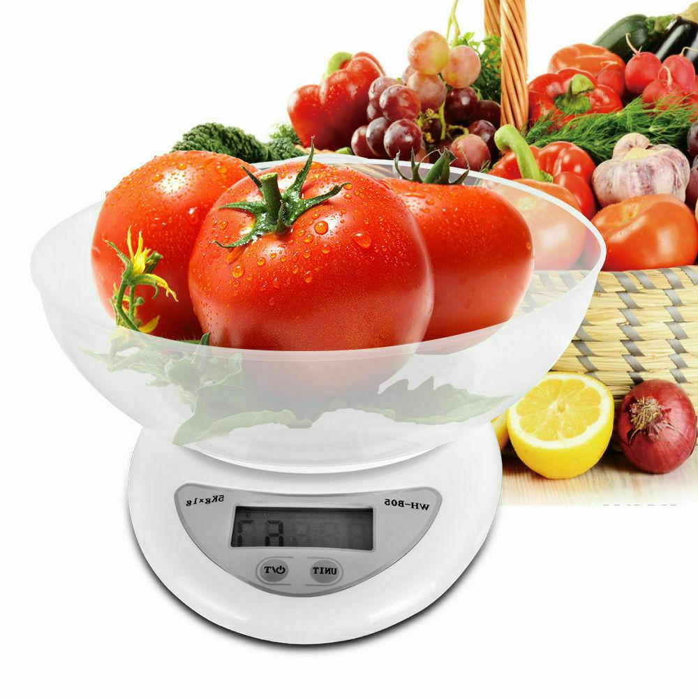 lcd digital kitchen scale with bowl 11lbs