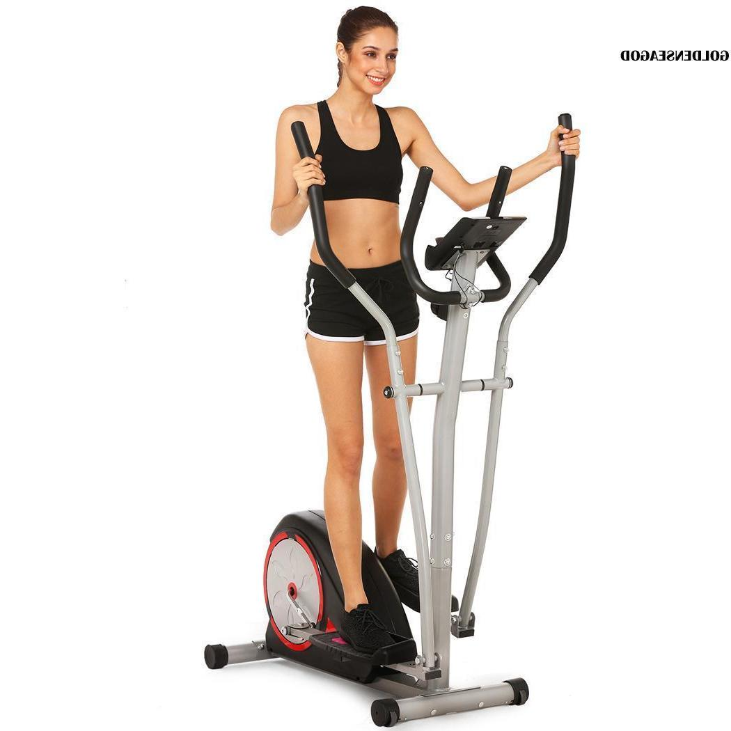 Magnetic Mute Elliptical Trainer LCD Fitness Home Office