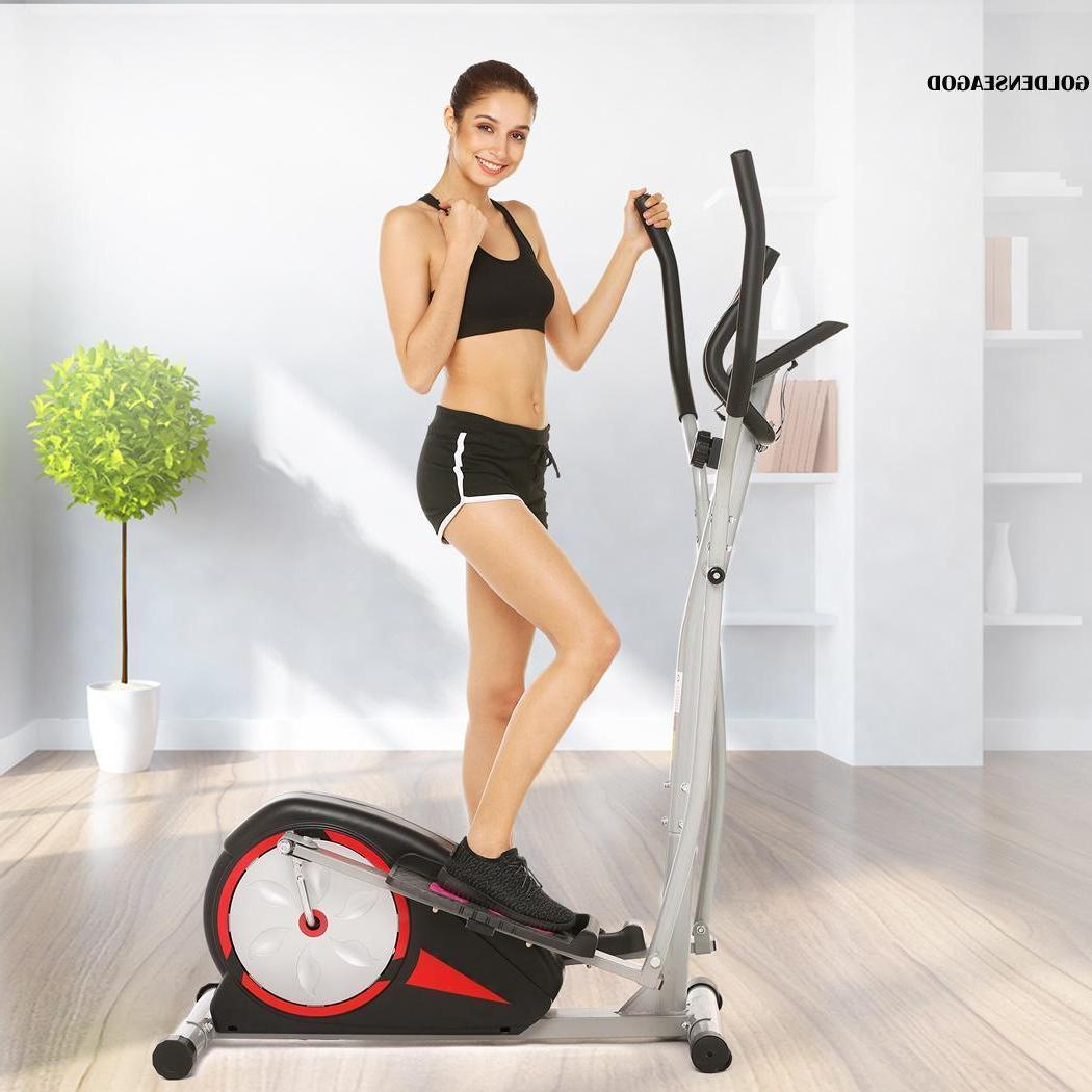 magnetic control mute elliptical trainer lcd monitor