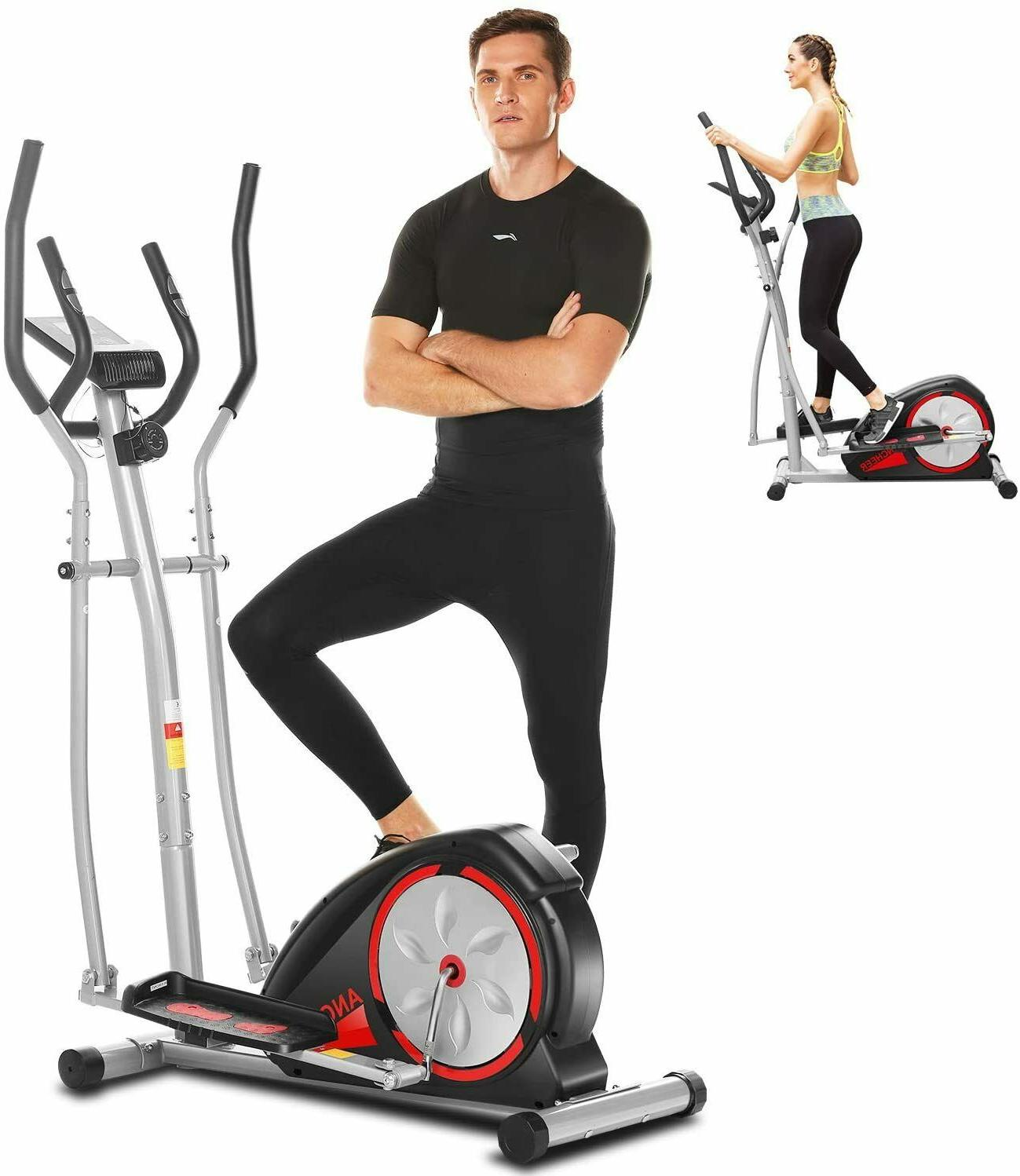 ANCHEER Elliptical Exercise Fitness Training Home Cardio Mute&