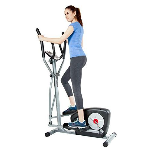 Body Champ Magnetic Elliptical Machine Exercise Trainer Computer Programs/Space Saving Compact