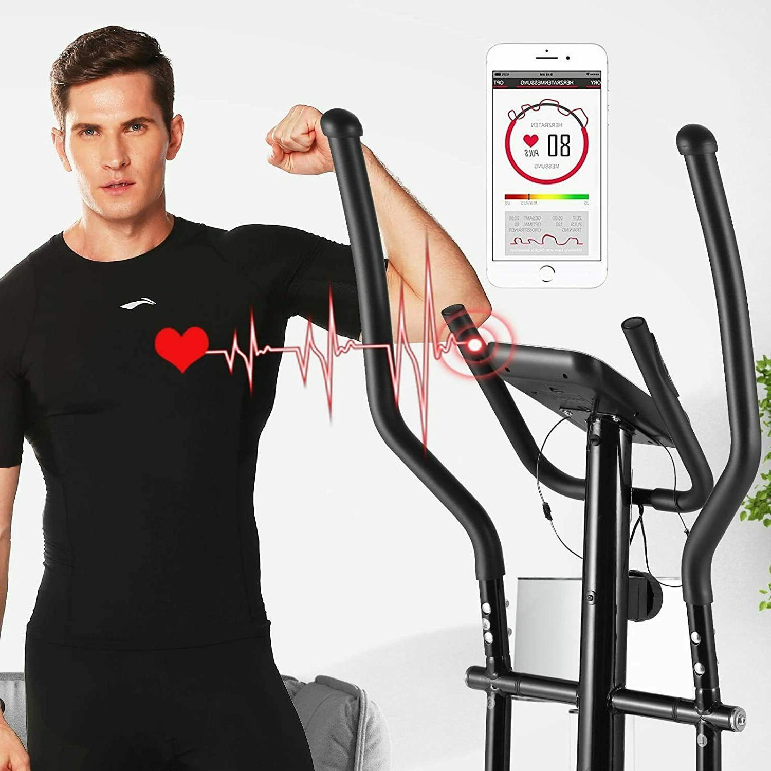 ANCHEER Elliptical Fitness Home Cardio Mute