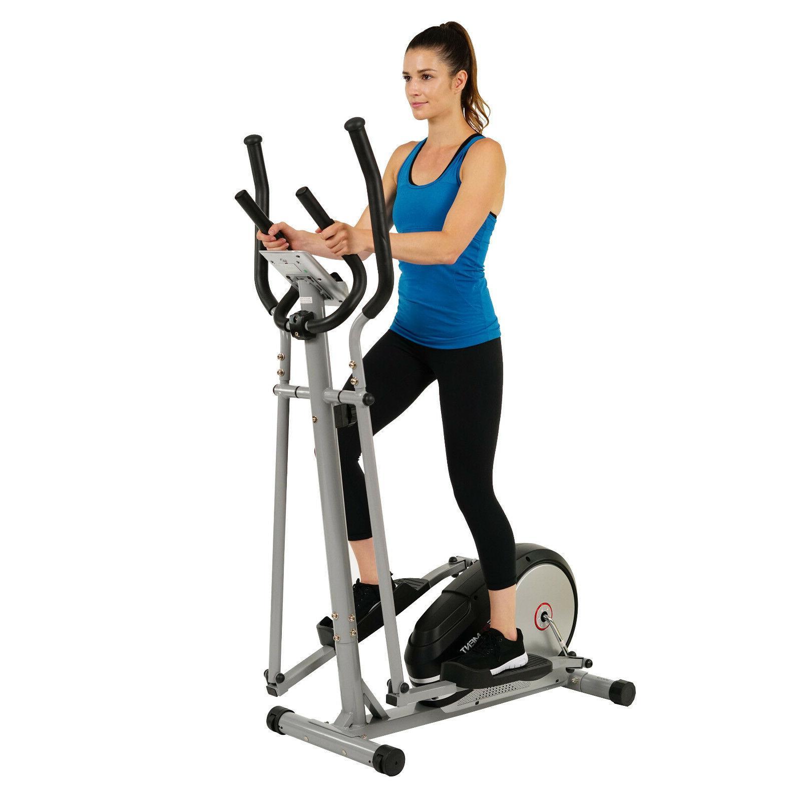 magnetic elliptical machine trainer