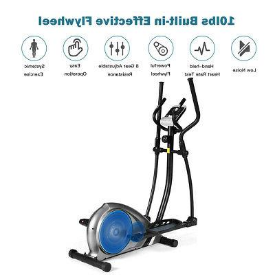Magnetic Elliptical Machine Trainer Fitness Exercise Gym