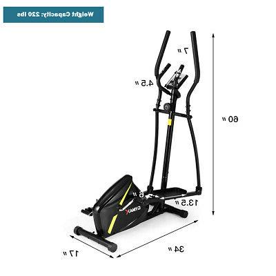 Magnetic Elliptical Machine Trainer Monitor Home Gym Exercise