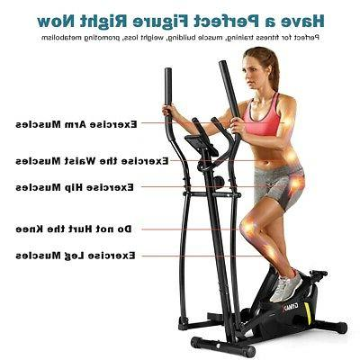 Magnetic Elliptical Machine Smooth Home Gym Exercise
