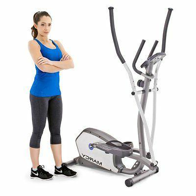 magnetic resistance elliptical trainer black