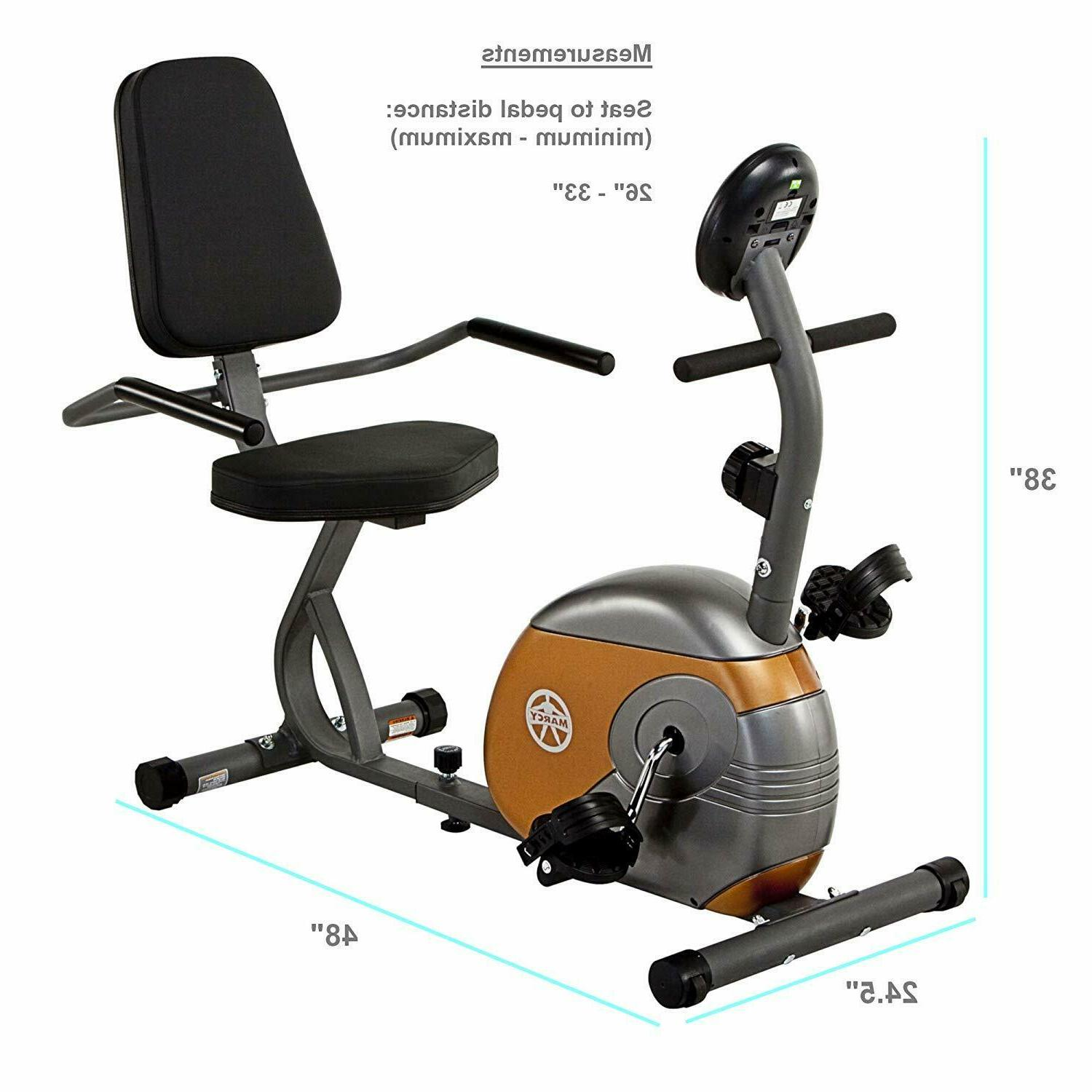 Marcy ME-709 Recumbent Exercise Bike with Magnetic Resistanc