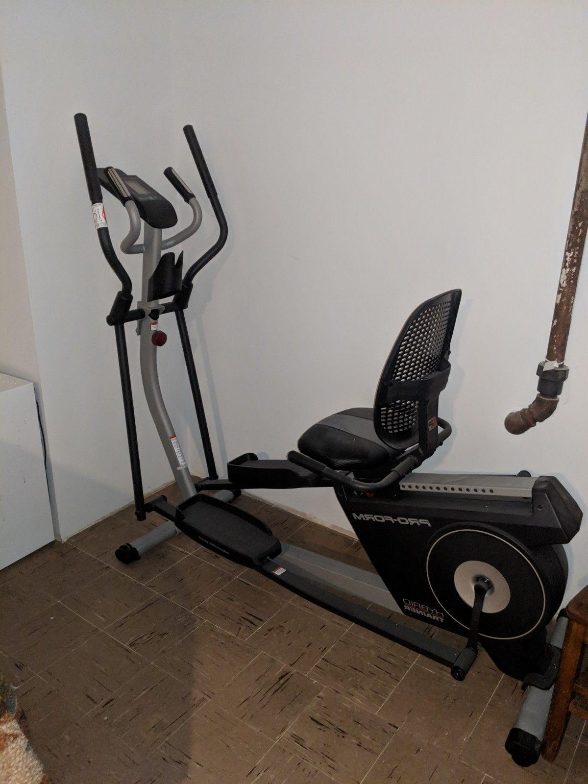 New Hybrid Trainer Elliptical And Rebent Bike
