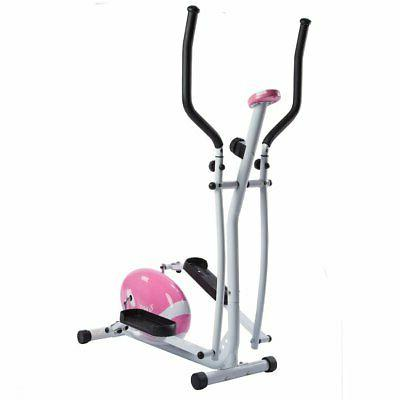 pink magnetic elliptical trainer