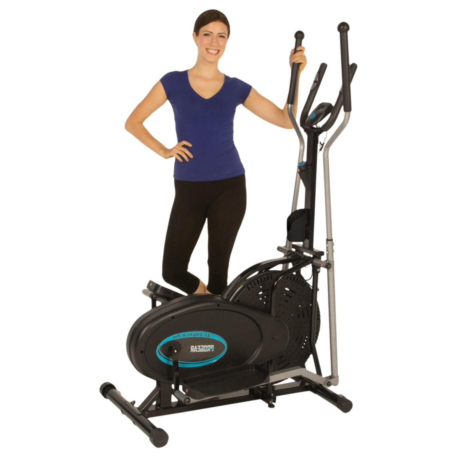 portable air elliptical with pulse sensors exercise