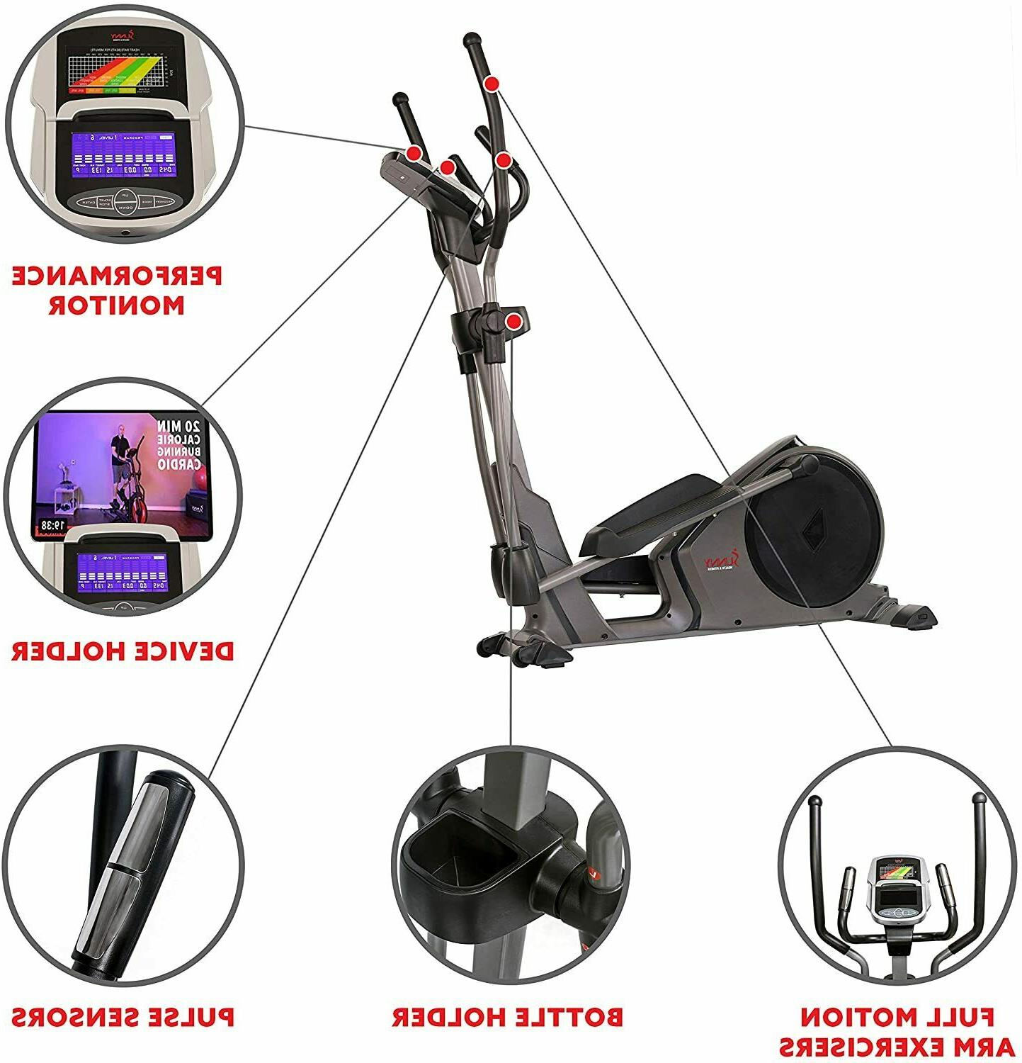 Programmable Cardio Elliptical Trainer w/24 Programs-Delivered apx 5-10 days