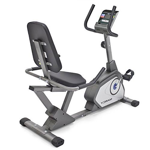 Marcy Recumbent Exercise Bike 8 Resistance Levels NS-40502R