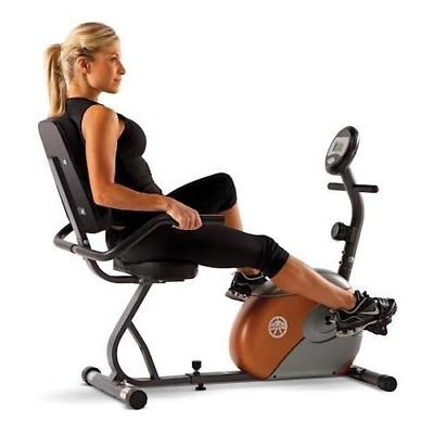 Marcy Recumbent Exercise Bike with Resistance ME-709 Free Shipping