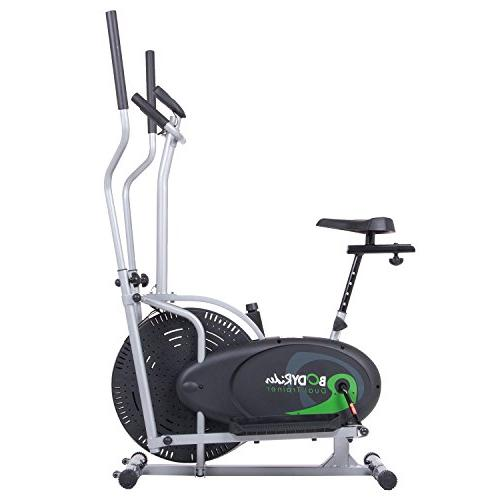 Body Elliptical and Exercise Bike Seat / Trainer 2 in 1 Cardio Office Fitness BRD2000