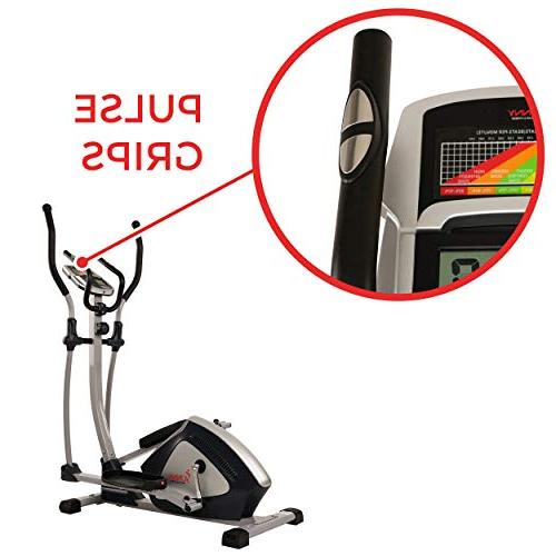 Sunny Health Magnetic Elliptical Machine and Heart Rate SF-E3804