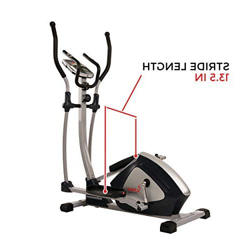 Sunny Health Fitness Magnetic Elliptical Elliptical Machine and Heart Rate Monitoring - Zone SF-E3804