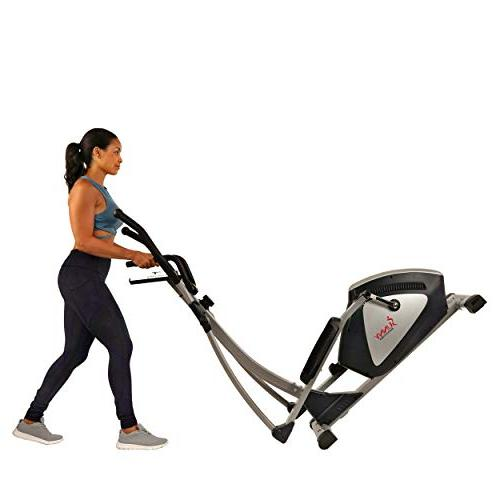 Sunny & Fitness Magnetic Elliptical Trainer Machine w/ LCD and Heart - Endurance Zone - SF-E3804