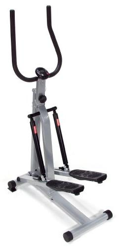 SpaceMate Folding Stepper w Handlebars in Gray & Black Finis