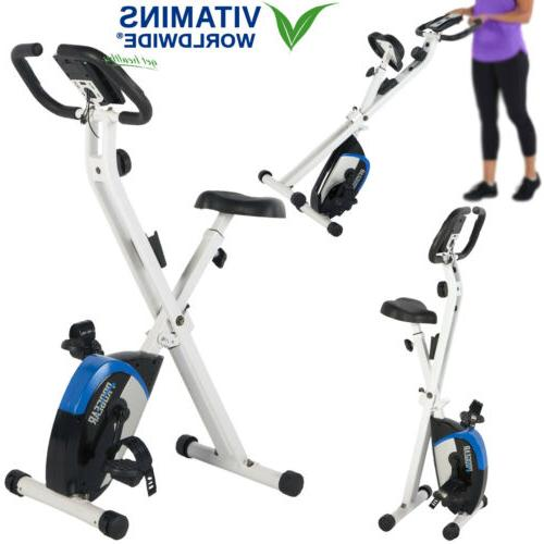 STATIONARY EXERCISE BIKE Foldable Upright Cycling Indoor Car