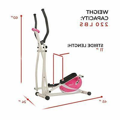 Sunny Health P8300 Pink Trainer Elliptical