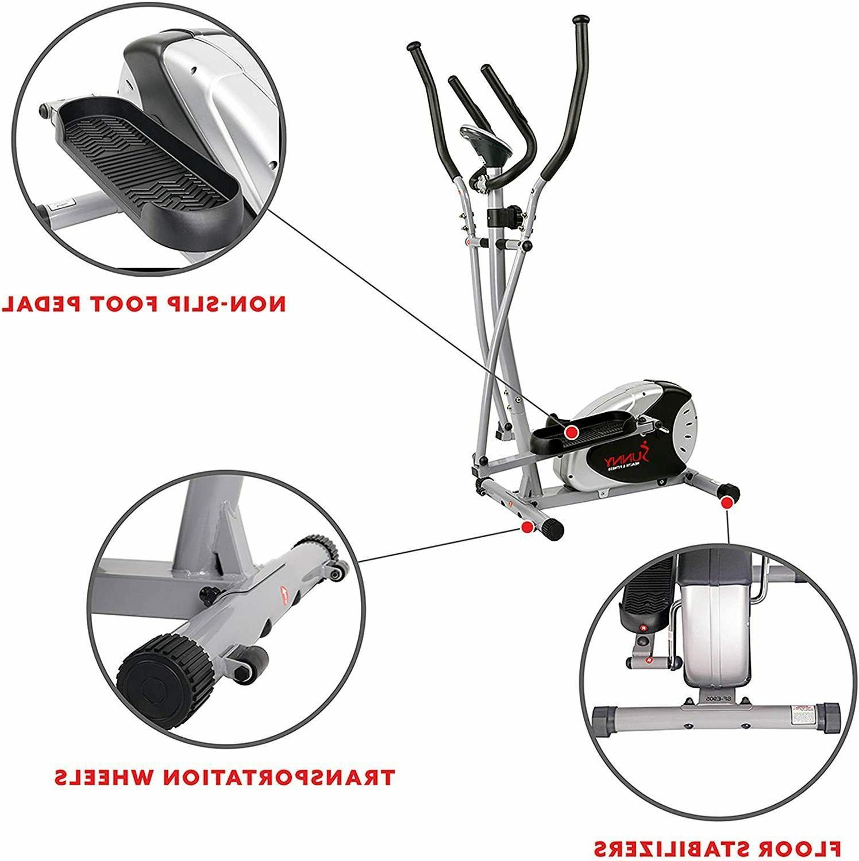 Sunny Health & SF-E905 Elliptical Machine Trainer Res