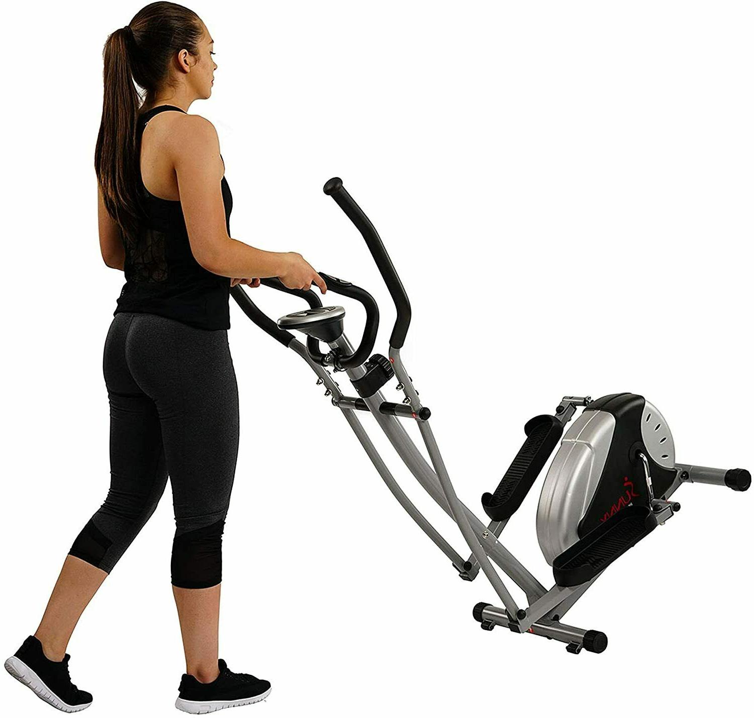 Sunny Fitness SF-E905 Elliptical Machine Trainer with 8 Res