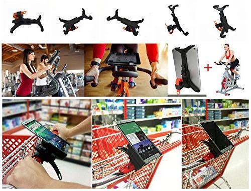 OCTO MOUNT Premium Tablet Car, Bike, Cart, Shopping Desktop, Bike, Elliptical Handlebar Up Inches