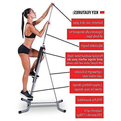 MaxiClimber patented Vertical Seen On Body Workout Fitness and