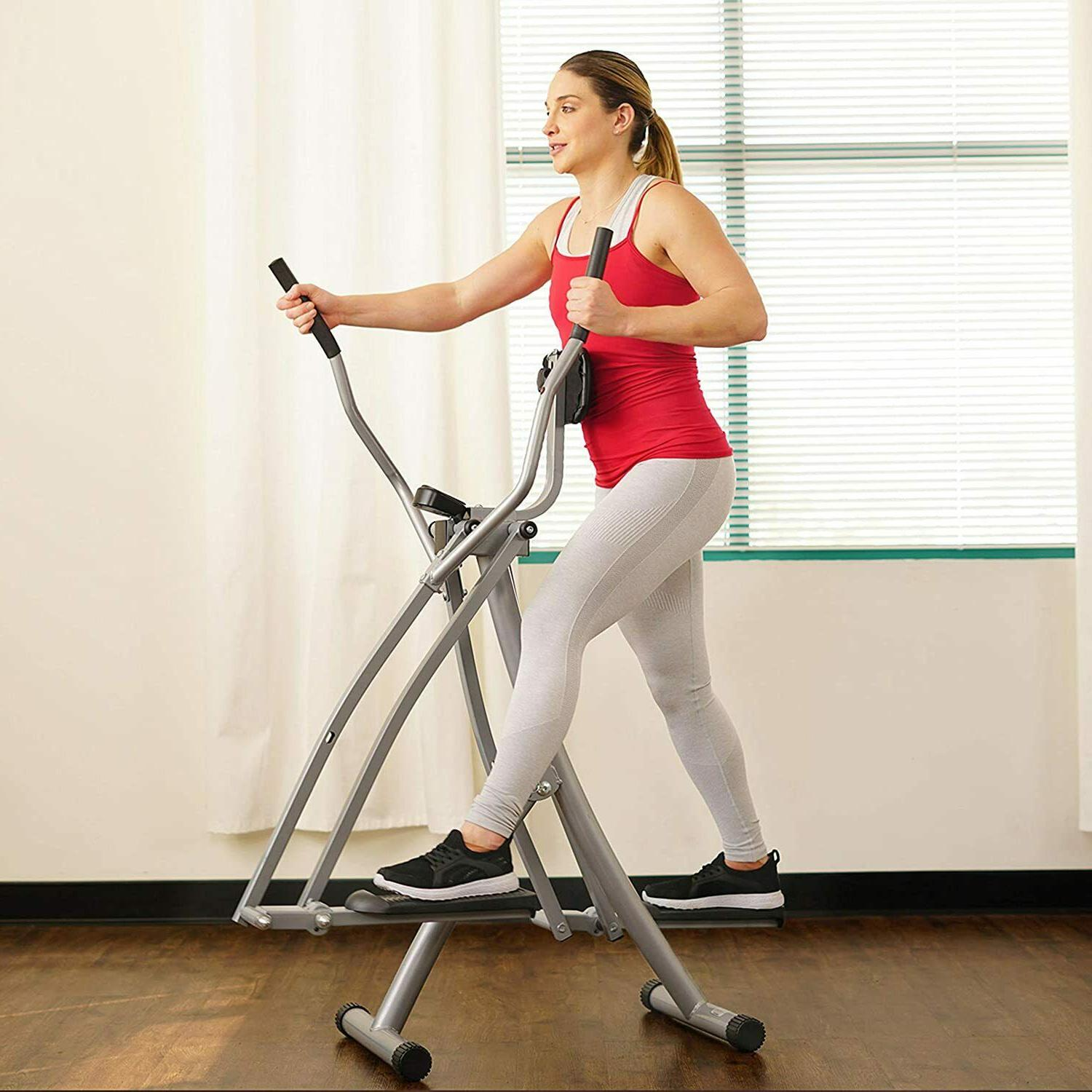 Air Walk Trainer Elliptical Machine Glider w/LCD Monitor Hom