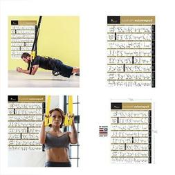 Laminated Suspension Exercise Poster Strength Training Chart