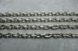 Light Grey Silver Cable Chain Small Oval Links Rolo 4X6mm Li