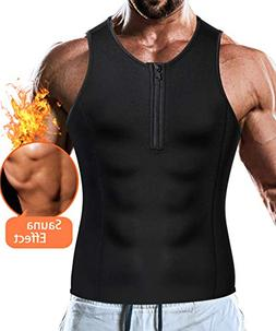Junlan Men Weight Loss Shirts Waist Trainer Shaper Slim Tank