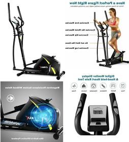 Magnetic Elliptical Bike Workout Trainer Smooth Quiet Home G