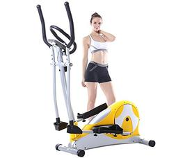 Magnetically controlled fitness step elliptical machine home