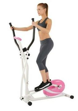 NEW Sunny P8300 Health & Fitness Pink Magnetic Elliptical Tr