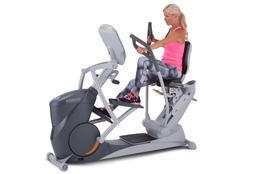 octane xr6000 xride recumbent elliptical crosstrainer seated