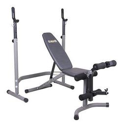 Body Champ BCB3780 Olympic Weight Bench with Leg Extension C