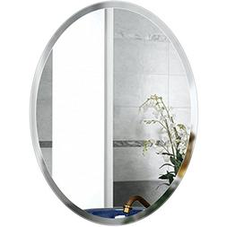 Beauty4U Oval Mirrors - 19.7 x 27.6 inch Beveled Elliptical