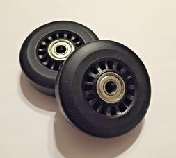 Pair Horizon Fitness Elliptical Ramp Wheel Roller
