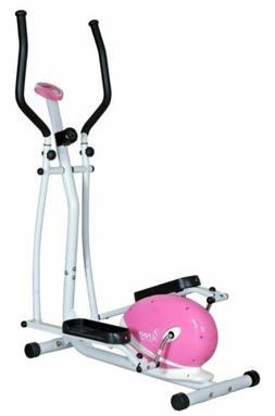 Pink Elliptical Trainer Exercise Machine Fitness Cardio Gym