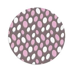 iPrint Polyester Round Tablecloth,Geometric,Retro Oval Patte