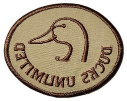 """RARE Ducks Unlimited Oval Hunting Patch NEW 3.5"""" X 2.75"""""""