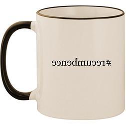 #recumbence - 11oz Ceramic Colored Handle & Rim Coffee Mug C