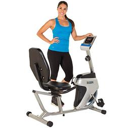 Recumbent Bike Smooth Magnetic Tension Quiet Drive with LCD