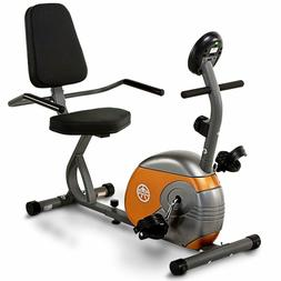 Marcy Recumbent Exercise Bike with Resistance ME-709 and LCD
