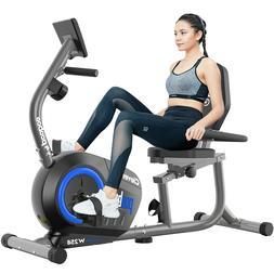 Indoor Recumbent Stationary Exercise Bike Support Elliptical