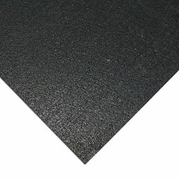 Rubber-Cal Elliptical Heavy Duty Floor Mat, Black, 3/16-Inch