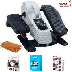 Sunny Health and Fitness Magnetic Under Desk Elliptical + Fi