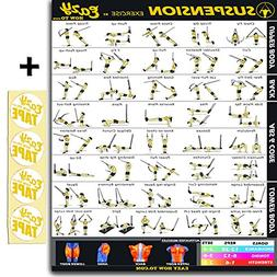 Eazy How To Suspension Cables Exercise Workout Banner Poster